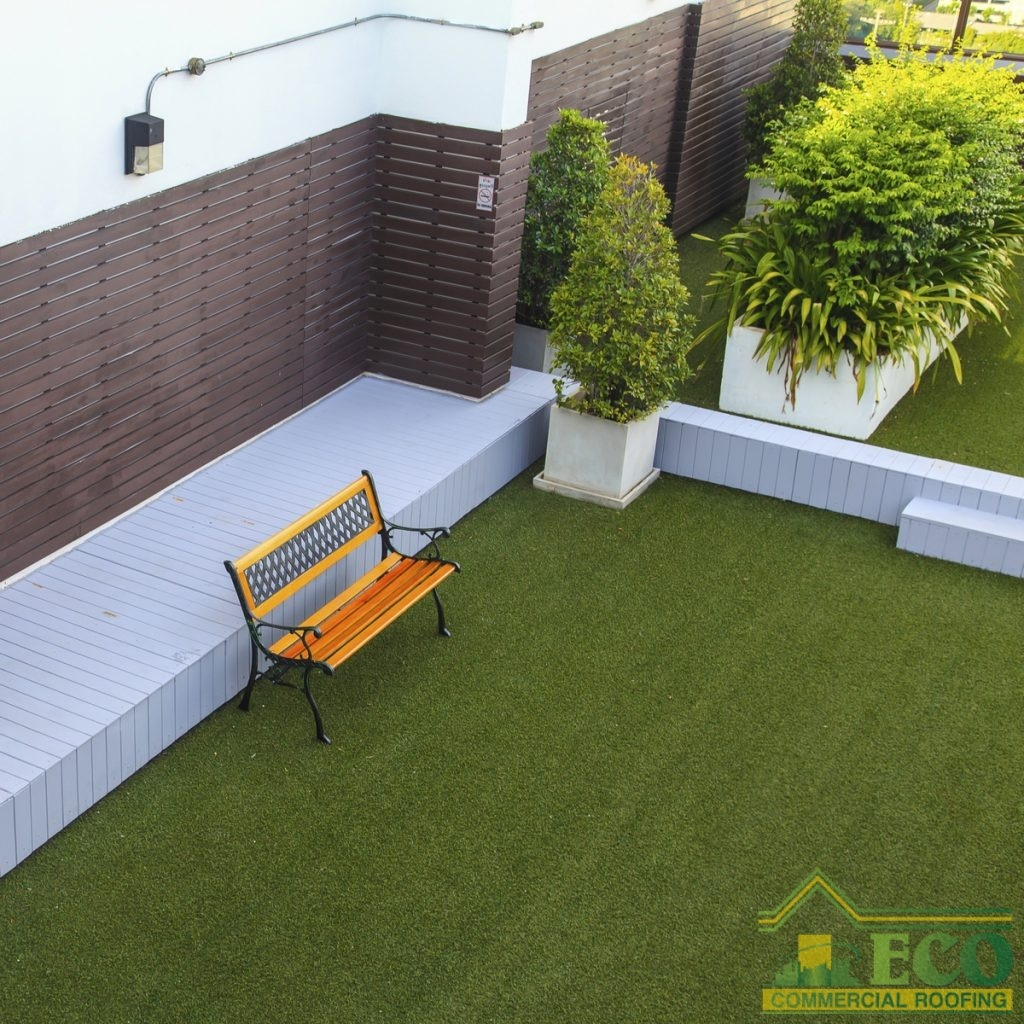 green commercial roof