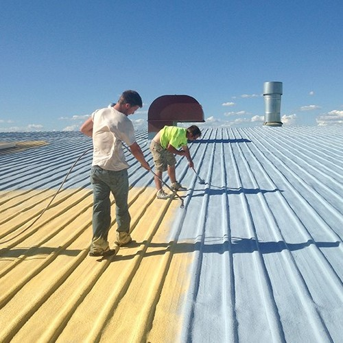 A Metal Roof Coating is Applied.