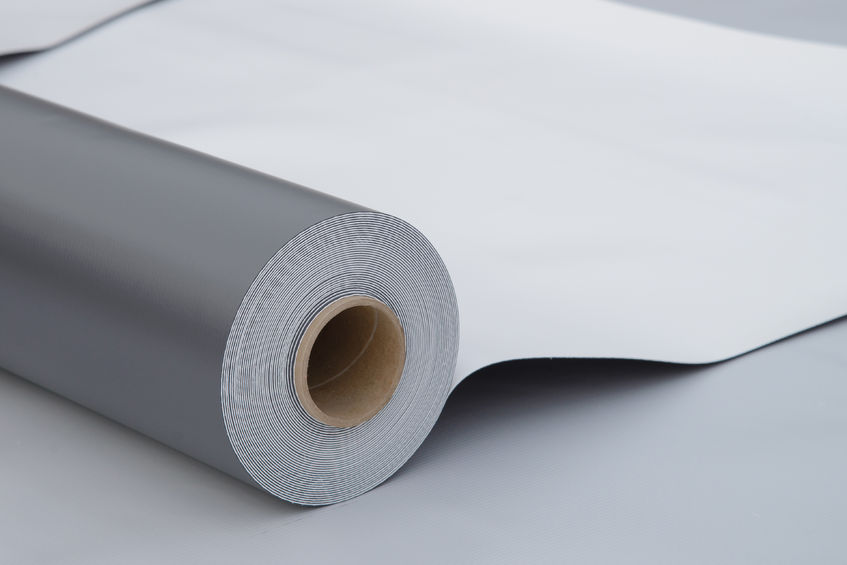 Roll of Single Ply Roofing Material